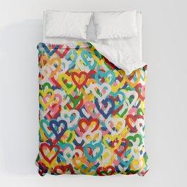 Rain Hearts 4 Comforters