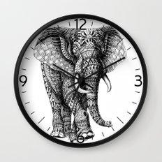 Ornate Elephant v.2 Wall Clock