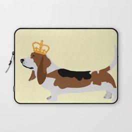 Crowned Basset Hound Dog Laptop Sleeve