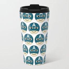 Captian A Emoji Travel Mug