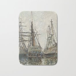 Boats,Claude Monet 1873 Bath Mat