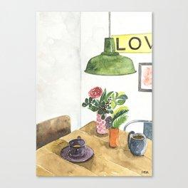 Conversation Series :: Catching up Canvas Print