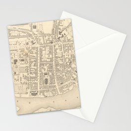 Vintage Map of Perth Scotland (1851) Stationery Cards