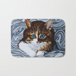Whiskers the Cat Bath Mat