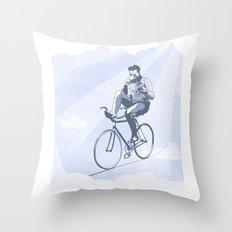 Bike and Coffee (Heaven) Throw Pillow