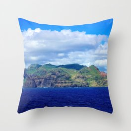 Kauai's Bright Welcome Throw Pillow