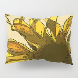 Yellow sunflower painting sketched Pillow Sham