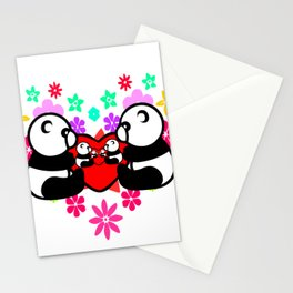 cute couple panda since childhood Stationery Cards