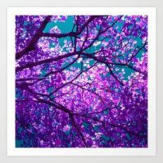 purple tree II Art Print