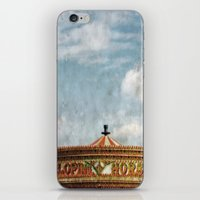 carousel iPhone & iPod Skins featuring Carousel by ALLY COXON