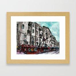 Savannah River Street Framed Art Print