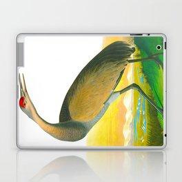 Hooping Crane John James Audubon Birds Of America Scientific Illustration Laptop & iPad Skin