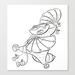 Ninja Fan Canvas Print