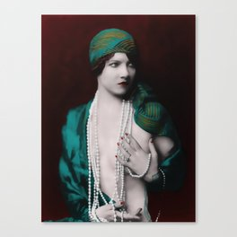 Ania with Pearls Canvas Print