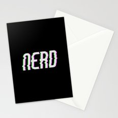 NERD GLITCH TEXT Stationery Cards