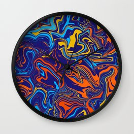 Fire and Ice Color Melt Wall Clock