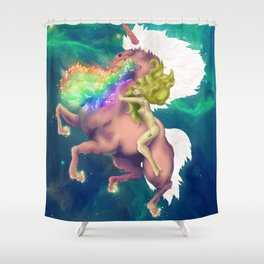 Gaga&Horse (The Galactic Tour of orgasms stellars from Unicorn) Shower Curtain