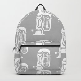 Tuba Pattern Gray Backpack