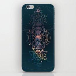 Dark Moon Phase Nebula Totem iPhone Skin