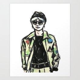 RUN BTS SUGA Art Print
