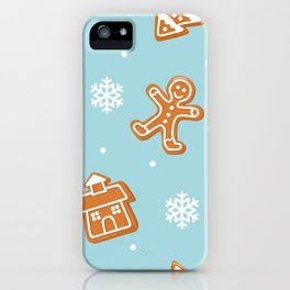 Gingerbread Cookies & Snowflakes iPhone Case