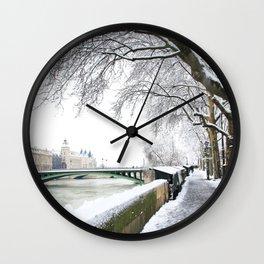 Notre-Dame Bridge,Paris Wall Clock