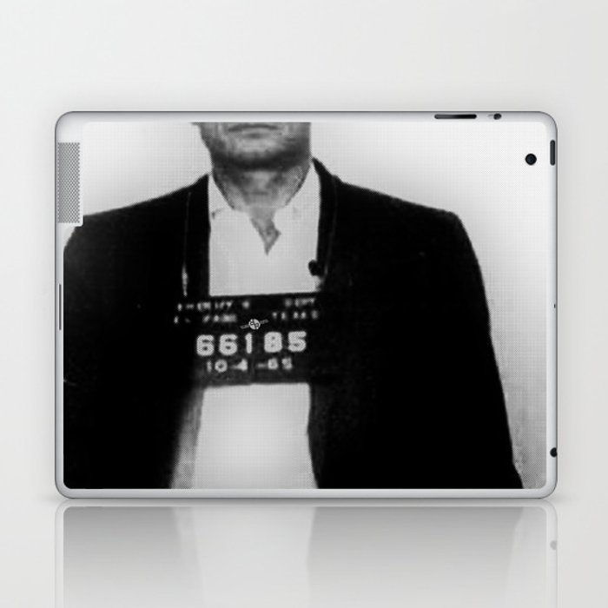 Johnny Cash Mug Shot Vertical Laptop & iPad Skin