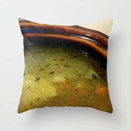 chicken broth Throw Pillow