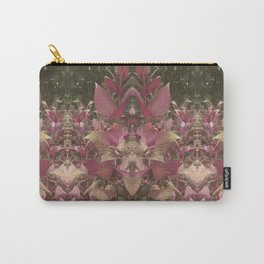 Red Shiso Warm Tones Pattern Carry-All Pouch