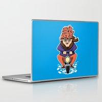 moto Laptop & iPad Skins featuring Crazy Moto Grandma by Maryanski