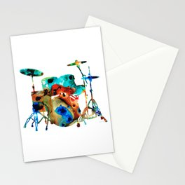 The Drums - Music Art By Sharon Cummings Stationery Cards