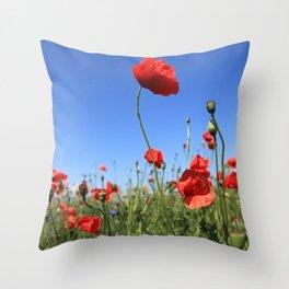 poppy flower no15 Throw Pillow