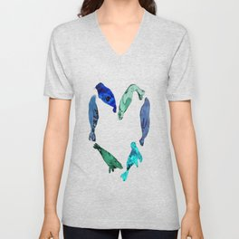 seal heart Unisex V-Neck