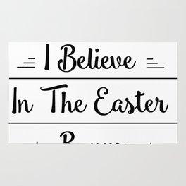 I Believe In The Easter Bunny Men Womens Kids Gift Rug