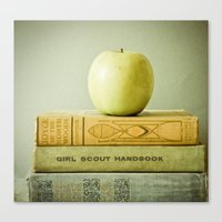 apple Canvas Prints featuring Apple by Olivia Joy StClaire
