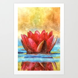 Goddess Lotus Art Print