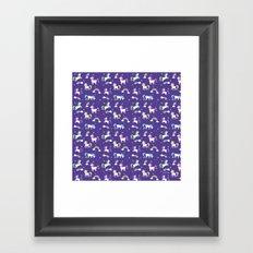 Unicorns and Rainbows - purple -tiny Framed Art Print