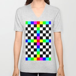 Prism Enters the Chessboard Remix Unisex V-Neck