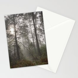 Calm morning... Into the foggy woods Stationery Cards