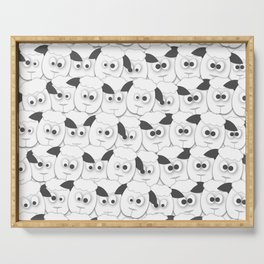 Crazy Herd of Sheep Serving Tray