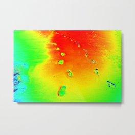 Color crazy footprints Metal Print