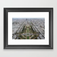 Paris from Above Framed Art Print