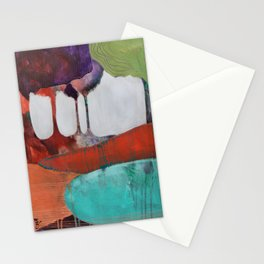Day 2 In The Woods, Contemporary Abstract Landscape Stationery Cards