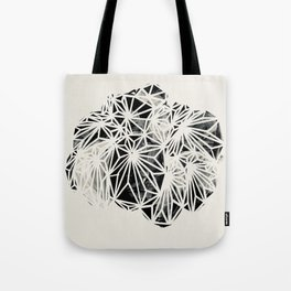 Pilea Black and White Plant Print Tote Bag