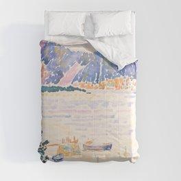 Cap Nègre by Henri-Edmond Cross 1909, French Comforters