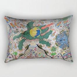 Volcano Lizard Rectangular Pillow