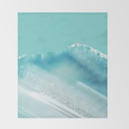 Geode Crystal Turquoise Blue Throw Blanket