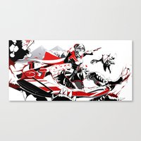 rwby Canvas Prints featuring RWBY: Ruby Rose  by Proteus Muna