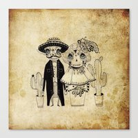 day of the dead Canvas Prints featuring Day of the Dead by Mono Ahn