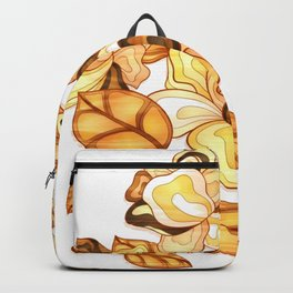 Golden Floral Backpack